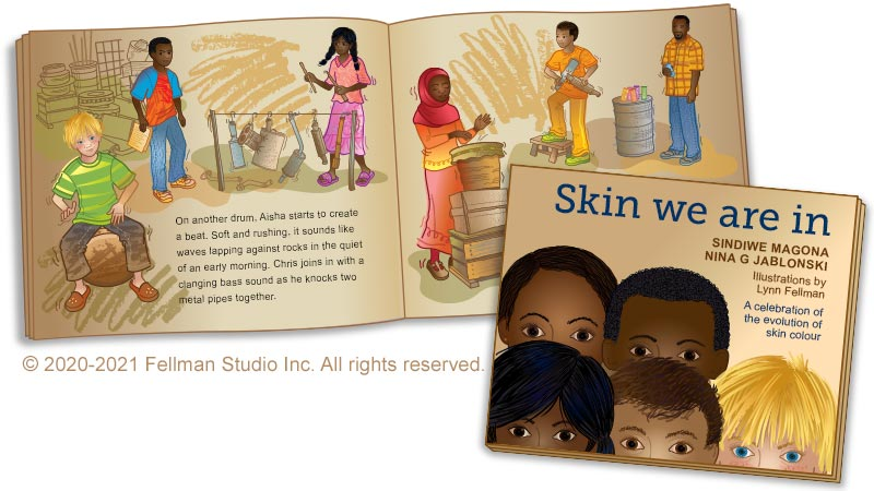 """""""Skin We Are In"""" evolution of human skin color book"""