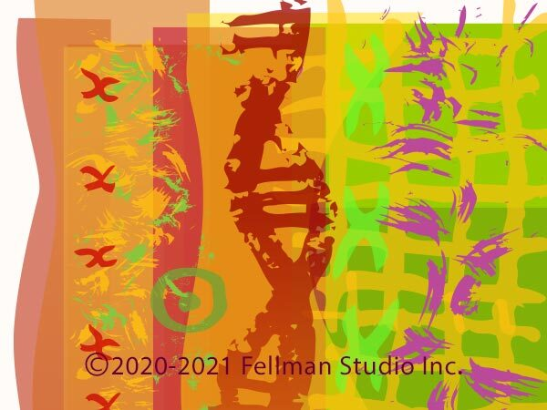 Dancing Helix original pigment print by Lynn Fellman artist for science