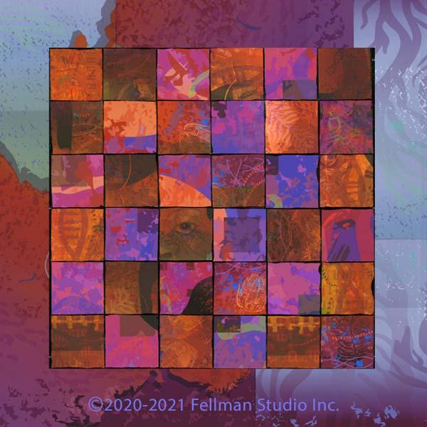 "Genomic-themed ""Polyform"" fine art print"